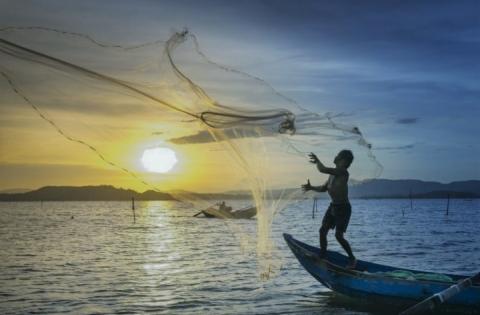 Le reti da pesca nel Kinneret