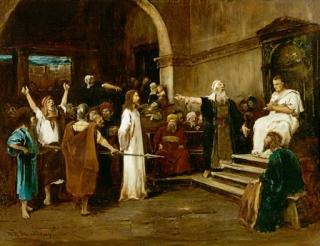 6. Gesù, davanti a Pilato