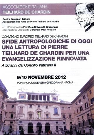Convegno europeo su Pierre Teilhard De Chardin