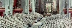 una seduta del Concilio Vaticano II