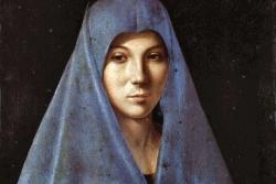 Maria incontra Gesù nell'annunciazione